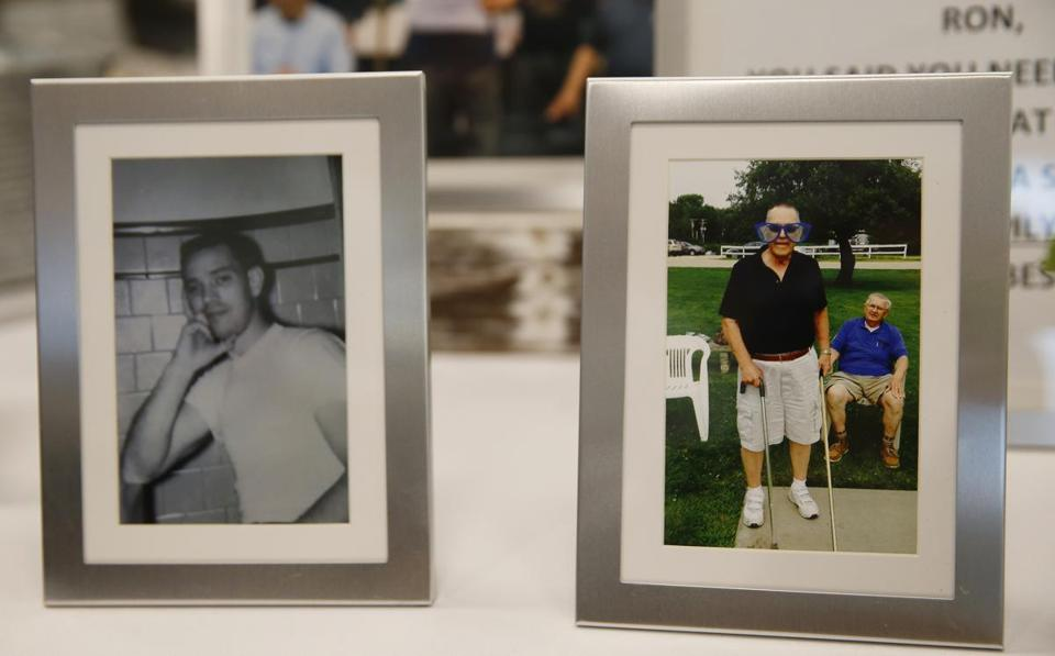 Photos of Chevalier were displayed at his retirement party.
